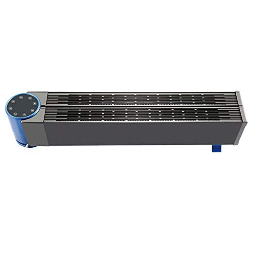 K-G Konvektor Heizung Heizkörper Elektrische Fußleiste Tragbare Elektrische Konvektoren Einstellbarer Thermostat Wärmeölfreie Radiator (Color : Black, Size : 2500W)