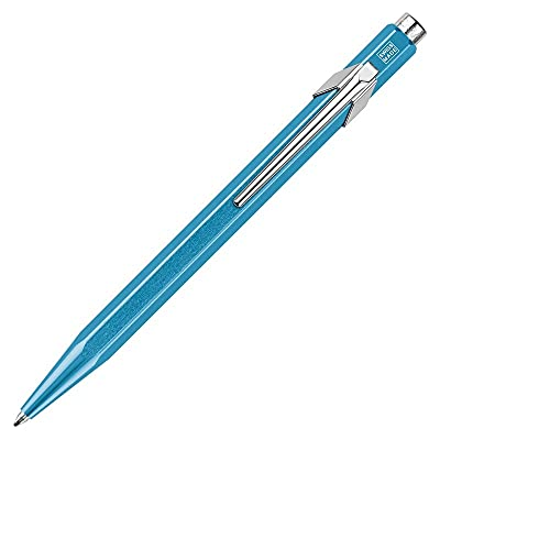Caran d'Ache 0849.771 - Bolígrafo retráctil (metal, 14 cm), color azul