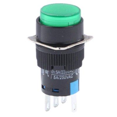 GUOLIANG Interruptores de botón eléctrico de Coche Coche DIY Ronda pulsador Interruptor/indicador Rojo, Apto for Coches (Color : Color2)