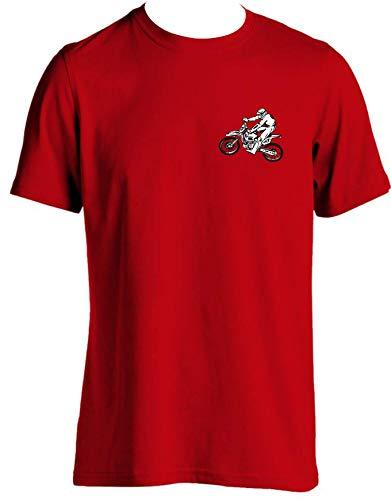 tlux4u Herren-T-Shirt für Dirt Bike, Rennrad, Motorradzubehör, 5 Größen Gr. XXL, rot