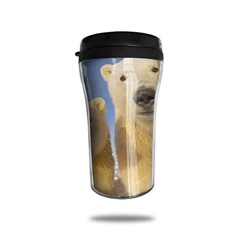 Taza de café de viaje con impresión 3D, taza de té aislada, taza de agua, taza de viaje para hombres, mujeres y niños, cachorros de oso polar