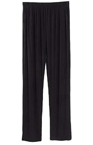 H&E - Pantalones de Pijama Rectos con Cintura elástica y Modal Suave y Acogedor para Hombre