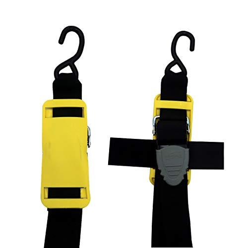 x 4 ft. Boat Buckle F17632 Pro Series Kwik-Lok Transom Tie-Down 2 Pack 2 in