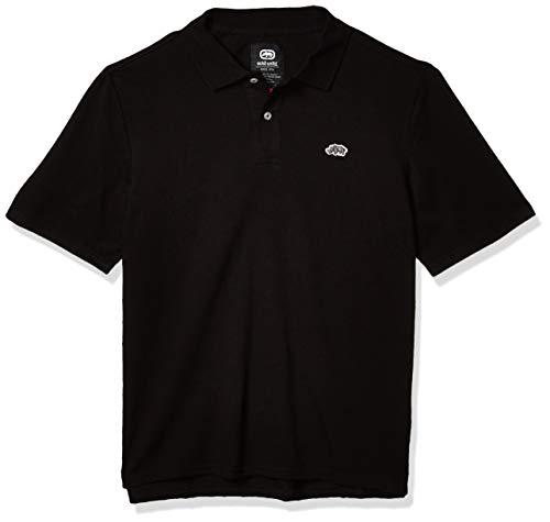 Ecko UNLTD Herren Poloshirt Staple ASAP Solid Short Sleeve - Schwarz - XX-Large