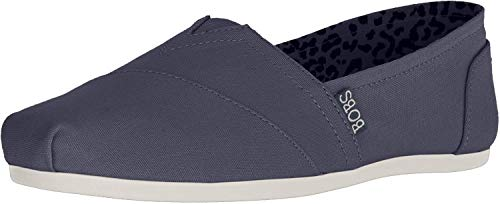 Skechers BOBS Women's Bobs Plush-Peace & Love Ballet Flat, Dark Navy, 9 M US