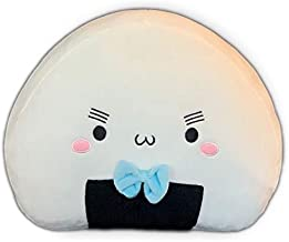 Nompillow Preppy Sushi Onigiri, Cute White Food Pillow Plushie, Perfect Cushion for College Decorations and Dorm, Home Decor, Kawaii Gift!