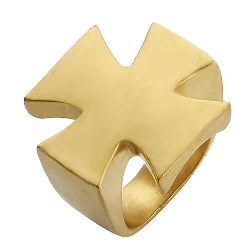 Valily Cross Ring voor mannen Mode Cool Matte Band Ringvinger Roestvrij staal Zwart Tone Boeddhisme Cross ring ReligioGift Men