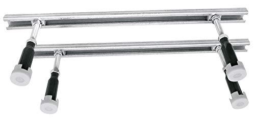 Calmwaters® - Universal - Vier höhenverstellbare Wannenfüße mit verzinkten Profilen zur Montage von Badewannen - 03SL3486
