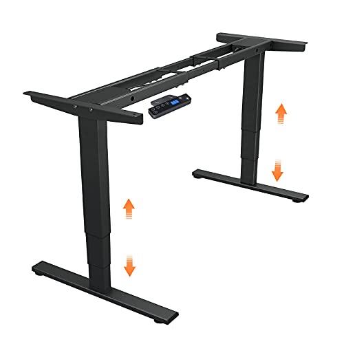 DCHOUSE Escritorio Marco de mesa de altura ajustable eléctricamente con control de memoria y arranque/parada suave