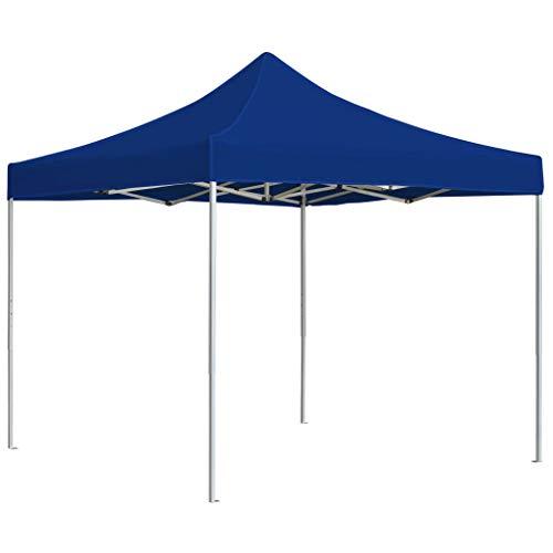 Goliraya Professional Folding Party Tent Gazebo Tent for Outdoor Events Sturdy Frame Aluminium 3x3 m Blue
