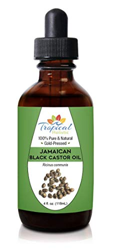 100% Pure Jamaican Black Castor Oil 4 oz, Premium Natural For Hair Growth, Beard, Eyelashes, Edges, Scalp Grease, Dandruff, Eyebrows - Hexane Free by Tropical Holistic