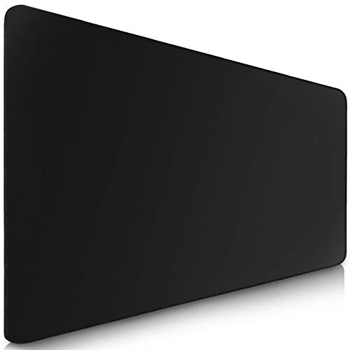 Sidorenko Large Gaming Mouse Mat - 900 x 400 x 2mm I Mouse Pad I Stitched Edges I Extended Mousepad with special surface improves speed and precision I Non-slip Rubber Base - Black