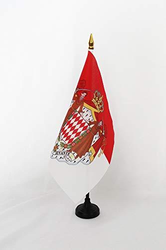 Az Flag Bandera de Mesa de Mónaco con Brazos, 15 x 15 cm