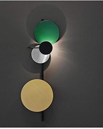 MJSM wandlampen, creatief design, voor hal en slaapkamer, persoonlijkheid, wandlamp, groen groot (breedte 35 x 95 cm), wit licht