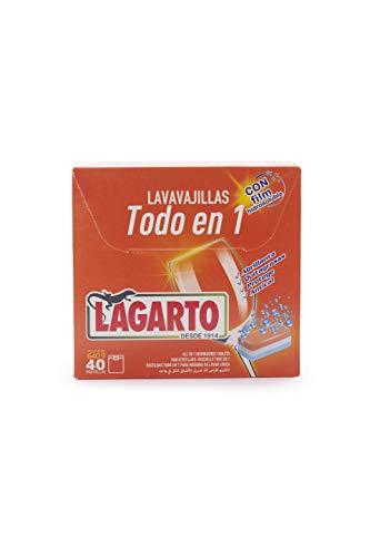 Lagarto Pastillas Lavavajillas Todo En Uno - 6 Cajas X 40uds- Uds, Blanco, caja 240 pastillas, 240 Unidad
