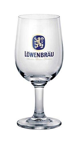 Lot de 6 verres à pied marque Lowenbrau cl. 25