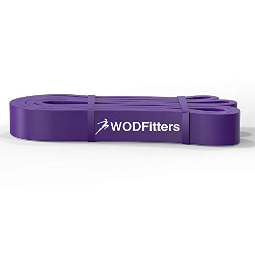 WODFitters Pull Up Assistance Band for Stretching, Mobility Workouts, Warm Up, Recovery, Powerlifting, Home Fitness and Exercise - Single Band