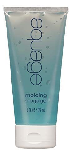 AQUAGE Molding Mega Gel, 6 oz., Ultra-Firm Styling Product Designed to Mold, Shape, and Style Hair, Long Lasting - Lightweight with Strong Control, Never Flakes