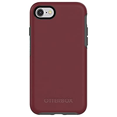 OtterBox SYMMETRY SERIES Case for iPhone SE (2nd gen) and iPhone 8/7 (NOT PLUS) - Retail Packaging - FINE PORT (CORDOVAN/SLATE GREY)