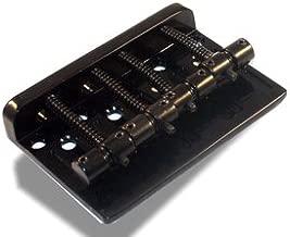 Bass Guitar Bridge 57 Millimeter 4 String Thru Body or Bridge Black
