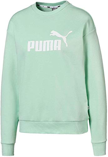 PUMA, Essential Logo Crew, sweatshirt voor dames, mint, wit shirts