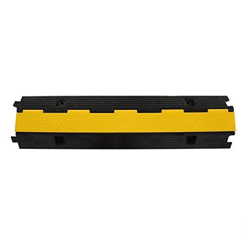 Hochleistungs-Einkanalgummi, Drahtabdeckungsrampe, PVC Speed Bump Kabelschutzabdeckung 99 x 26 x 8 cm für Quetschfestigkeit
