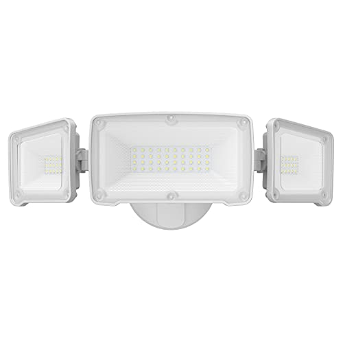 LEPOWER 3500LM LED Flood Light Outdoor, 35W Super Bright Outdoor Flood Light Fixture, Switch Controlled LED Security Light, 3 Adjustable Heads, ETL Listed, 5500K, IP65 Waterproof for Garage, Yard