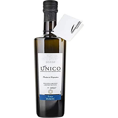 DCOOP Aceite De Oliva Virgen Extra - Coupage Fusión, Gama Único, Aceituna Arbequina Y Hojiblanca, Sabor Frutado Con Matices Verdes, Ideal Para Consumo En Crudo, 500 Ml