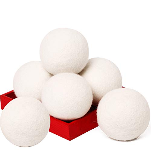 Organic XL 6 PC Natural Fabric Softener Laundry Dryer Ball $5.99 (40% Off with code)