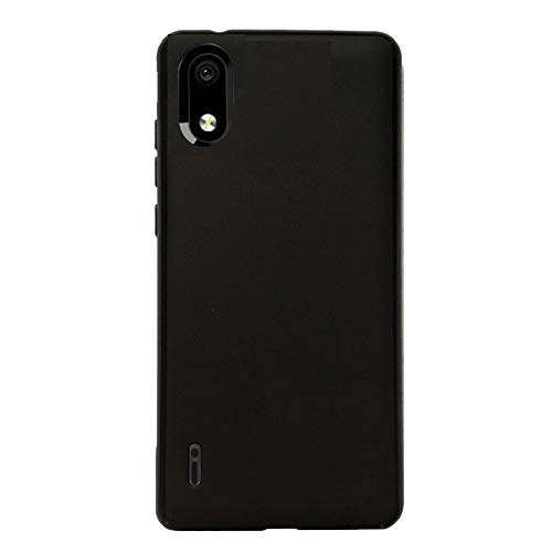 FLYME for ZTE Blade A5 2020 Case, Flexible Scratch Resistant Non-Slip Shockproof Cover Soft TPU Rubber Slim Fit Case,Black