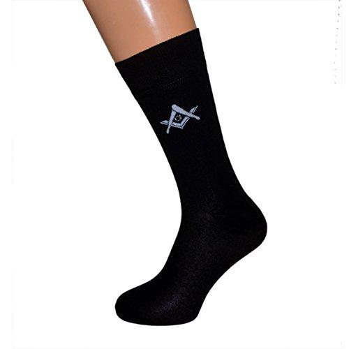 Paar Freimaurer Design mit G Freimaurer gewebte Baumwolle Socken Erwachsene Größe UK 6–12Euro 39–46(x6mg)