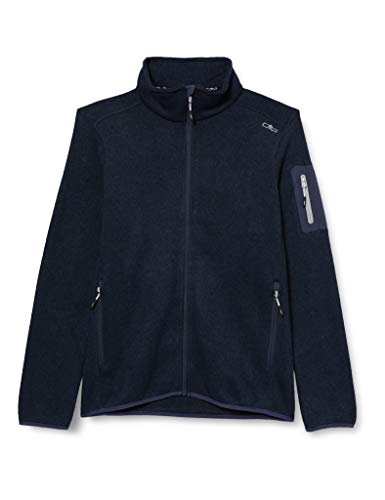 CMP – F.lli Campagnolo Damen Knit Tech Polyester-Strickfleecejacke, B.Blue-Grey, D42, 3H14746