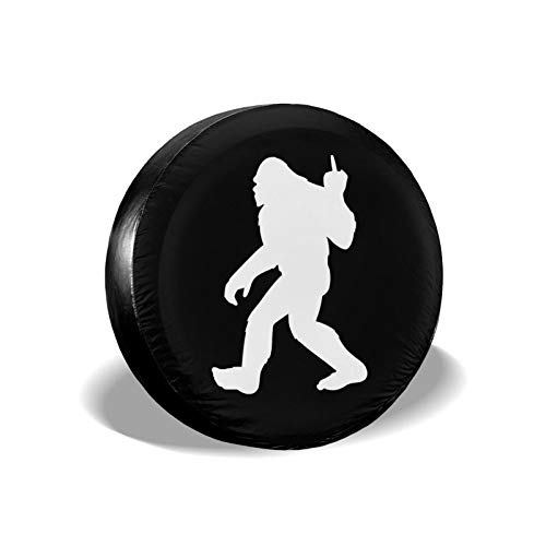 Funny Bigfoot Spare Tire Cover Waterproof Dust-Proof UV Sun Wheel Tire Cover Fit for Jeep,Trailer, RV, SUV and Many Vehicle 15 Inch