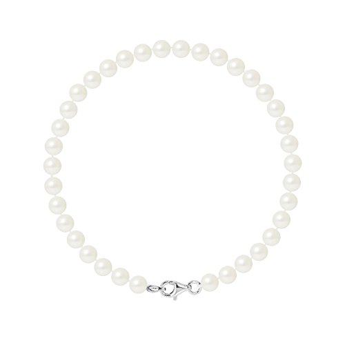 Pearls & Colors Bracciale intrecciato - AM17-BRA-AG-R56-M-WH