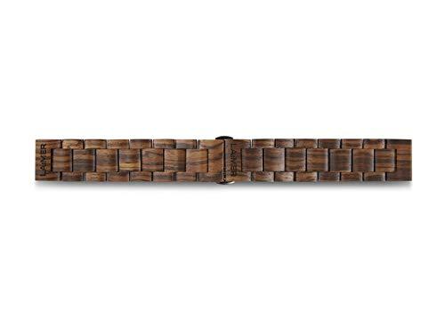 LAiMER Unisex Holz- Holzband - Uhrenarmband - Wechselband - Ersatzband - Mehrfarbig - nachhaltig - 18mm, 20mm, 22mm - auch geeignet für Smartwatch Uhren