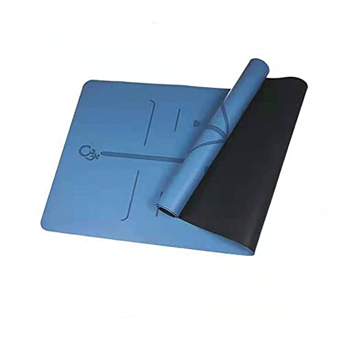 La esterilla de yoga de caucho natural de 6 mmPU con línea de posicionamiento tiene un fuerte agarre antideslizante y una fuerte resistencia al desgarro, una esterilla ideal para practicantes de yoga