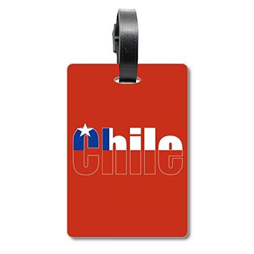 Etiqueta de identificación de la Bandera de Chile para Maleta de Crucero