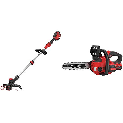 Review Of CRAFTSMAN CMCST910M1 V20 MAX String Trimmer with CMCCS620M1 V20 12 Cordless Compact Chain...