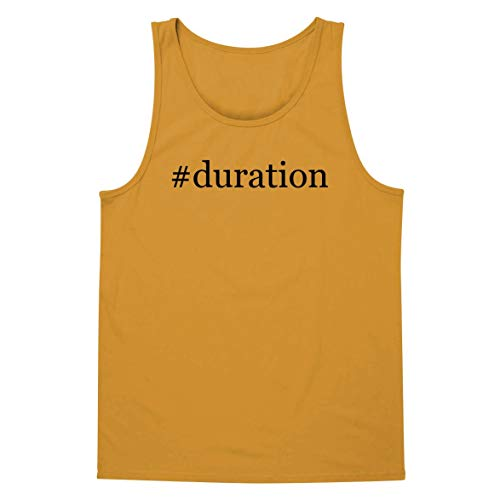 The Town Butler #Duration - A Soft & Comfortable Hashtag Men's Tank Top, Gold, Large