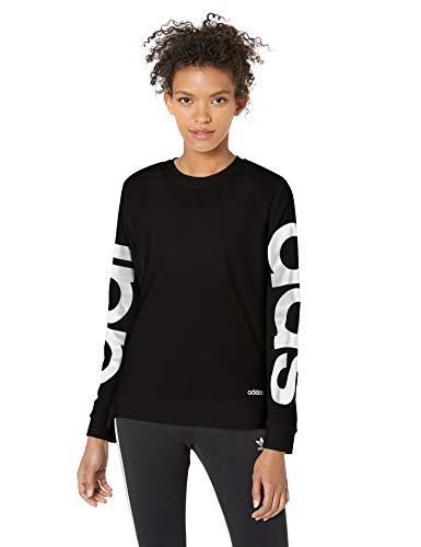 adidas Women's Essentials Brand Sweatshirt, Black/White, X-Large