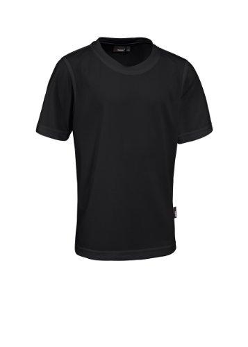 Maier Sports Piquee Programm T-Shirt Manches mi-Longues pour Enfant Noir Noir 140 cm