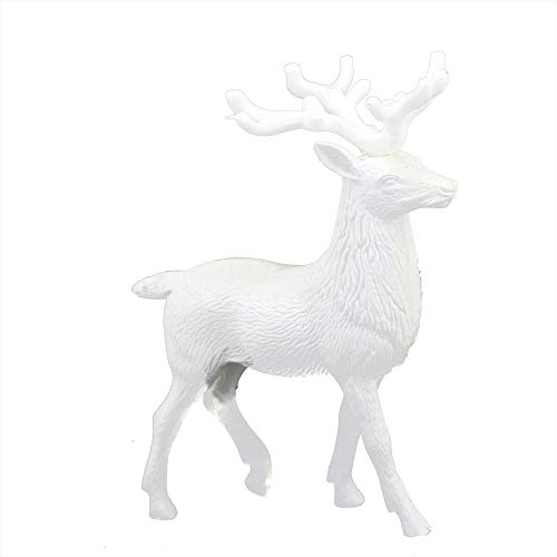 About1988 Rentierpuppe, Tischdekoration, Elche Deko Hirsch weiß, Weißer Hirsch Weihnachten Weihnachten Rentier Kid, Tierliebhaber oder Jagdfreund Figur Skulptur Figur Rentier Weihnachten Winter (1PC)