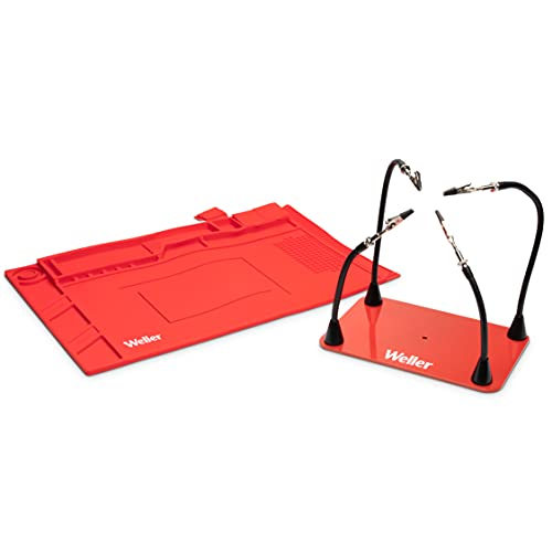 WELLER HELPING HANDS 4 MAGNETIC ARMS (WLACCHHM-02) WELLER SOLDERING MAT SIZE MEDIUM (WLACCWSM2-02)