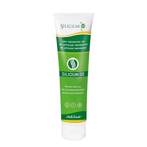 Silicium G5 Gel. Silicium gel avec vitamine E pour la production du collagène natif. Gel surconcentré articulaire anti douleurs musculaires osseuses articulaires. Soins pour la peau. 150 ml.