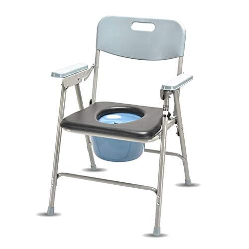 Home Commode Stuhl Toilettenstuhl Sitz Tragbarer Klapp- / Duschstuhl Mit Stil Sitz Und Bezug Für Erwachsene Handicap Ältere Menschen