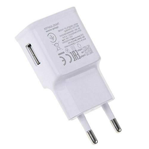 Transformator USB type C-oplader, snel opladen, witte kleur, zonder pakket oplader, compatibel met Samsung Galaxy S8 S9 S10 Plus Note 8 9, snellader