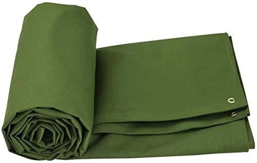 YUEDAI Espesar Prueba de Lluvia Lona Lona Tierra Sheet Covers Carpa toldo de Lona Shed de Tela de protección Solar al Aire Libre, Multi Tamaños, 600G / M² (Color : Armygreen, Size : 5x7m)