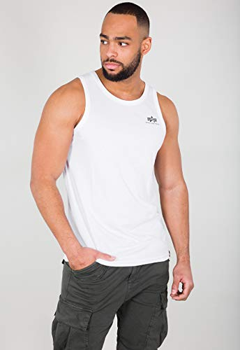 Alpha Industries Small Logo Tank Top Weiß S
