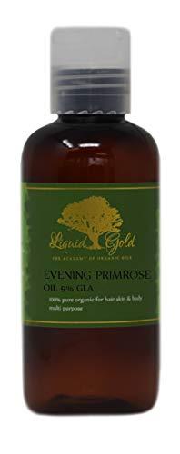 4 Fl.oz Liquid Gold Evening Primrose Oil 100% Pure & Organic for Skin Hair and Health