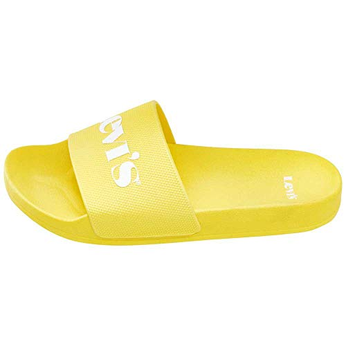 Levi's June Mono S, Sandalia Mujer, Regular Yellow, 37 EU